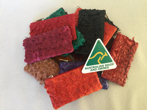 Coin purse featuring claret ruffled barramundi from the Kimberly WA