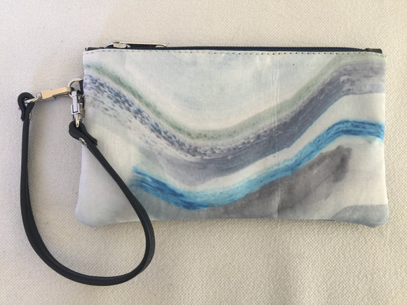 Ella purse featuring Waves by textile artist Isadora Hanley