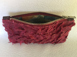 Coin purse featuring fuchsia ruffled barramundi from the Kimberly WA