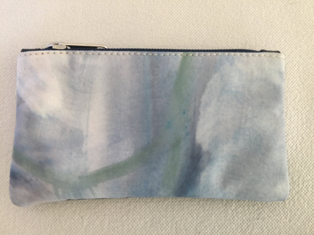 Lily purse featuring Waves by textile artist Isadora Hanley