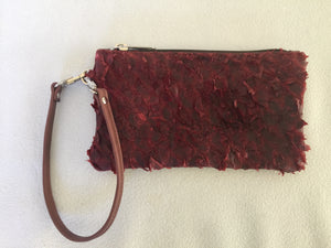 Ella purse featuring claret ruffled barramundi from the Kimberly WA