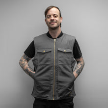 Load image into Gallery viewer, THE LEGENDARY TREADWELL GREY CANVAS VEST!!!