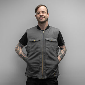 THE LEGENDARY TREADWELL GREY CANVAS VEST!!!