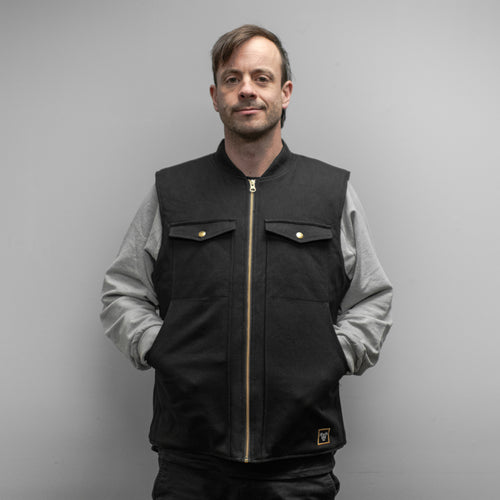 BLACK TREADWELL CANVAS VEST!!!
