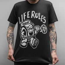 "Load image into Gallery viewer, TREADWELL ""Life Rules"" T-SHIRT"