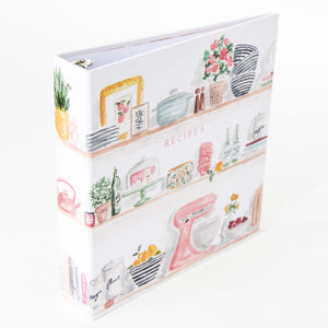 Kitchen Shelves 3 Ring Recipe Binder