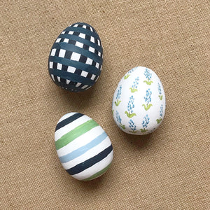 Preppy Stripes Easter Egg