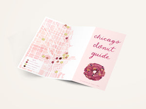 Chicago Donut Guide Watercolor Map The Illustrated Life