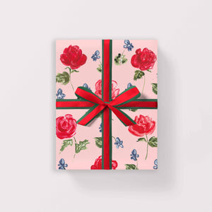 Roses and Violets Gift Wrap