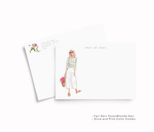 Culotte Girl Personalized Stationery