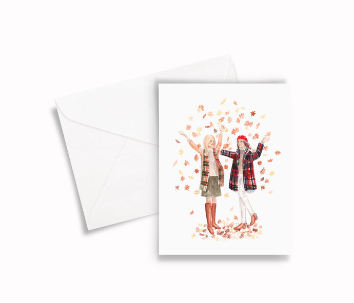 Fall Besties Greeting Card