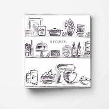 Load image into Gallery viewer, Black Kitchen Shelves 3-Ring Recipe Binder