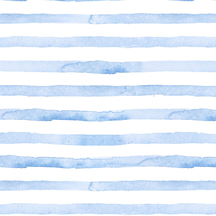 blue seersucker stripes summer watercolor gift wrap