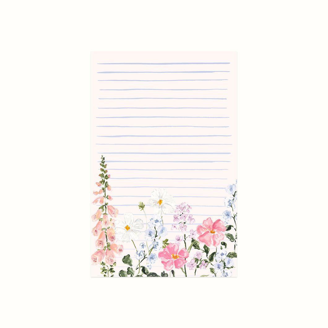 Summer Blossoms Lined Notepad