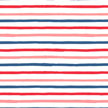 Load image into Gallery viewer, red blue pink summer happy stripes wrapping paper the illustrated life