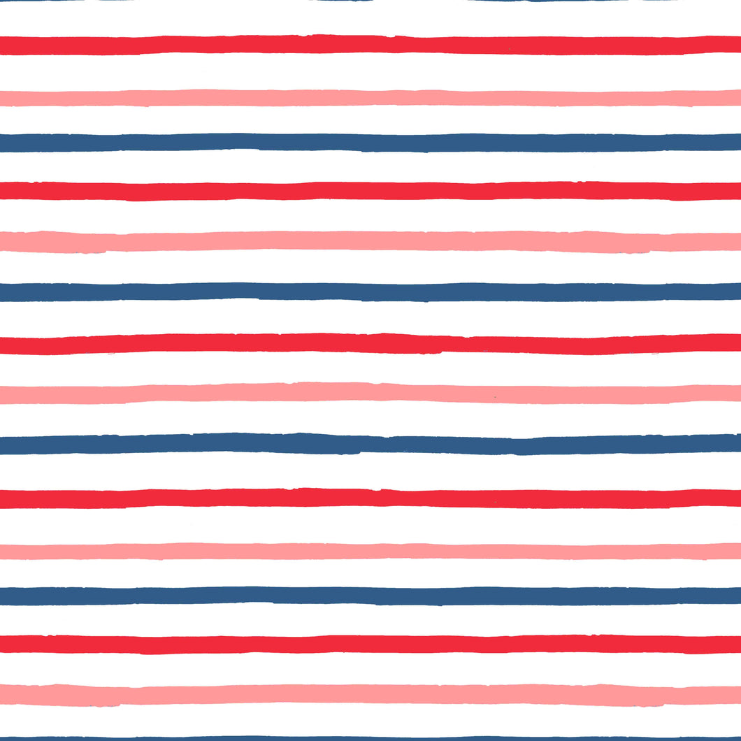 red blue pink summer happy stripes wrapping paper the illustrated life
