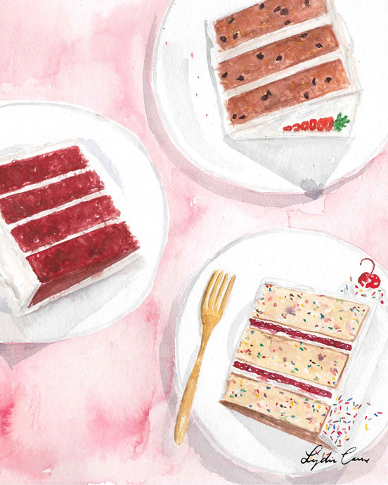 Cake Slices Art Print