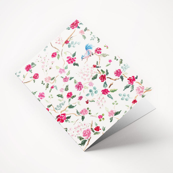 Chinoiserie File Folder with Pockets