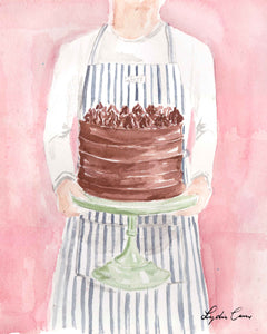 chocolate layer cake art print