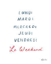 Load image into Gallery viewer, Le Weekend Art Print