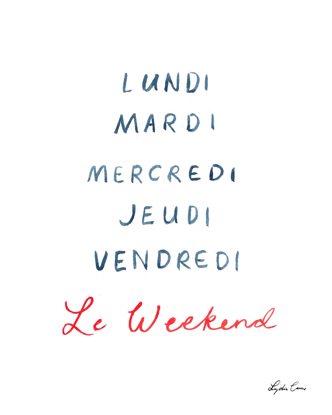 Le Weekend Art Print