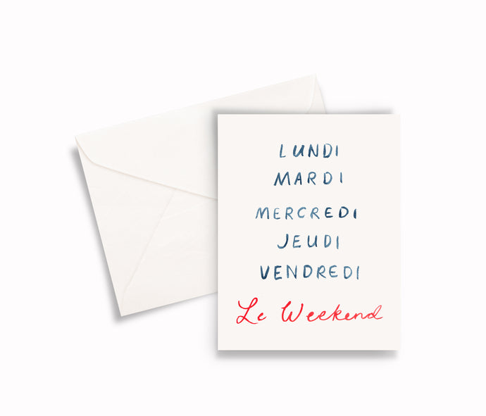 Le Weekend Notecards