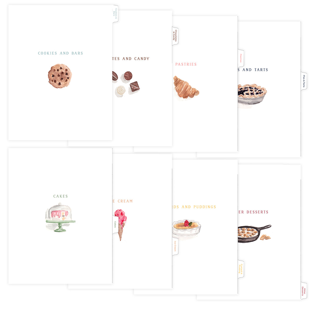 Dessert Tab Dividers for Recipe Binder