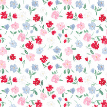Load image into Gallery viewer, dainty summer floral red blue pink watercolor