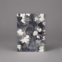 Load image into Gallery viewer, dogwood floral watercolor spiral bound notebook
