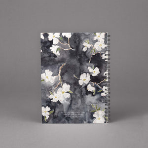dogwood floral watercolor spiral bound notebook