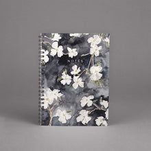 Load image into Gallery viewer, Dogwood Floral Spiral Hardcover Journal