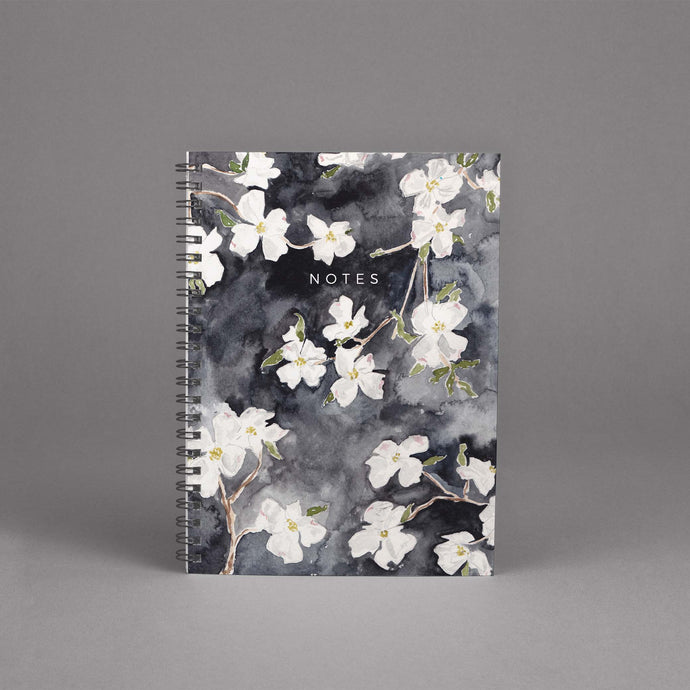 Dogwood Floral Spiral Hardcover Journal