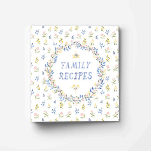 Family Recipes Floral 3-Ring Recipe Binder