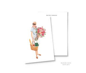 farmer's market personalized fashion illustration stationery summer the illustrated life