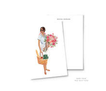 Load image into Gallery viewer, farmer's market personalized fashion illustration stationery summer the illustrated life