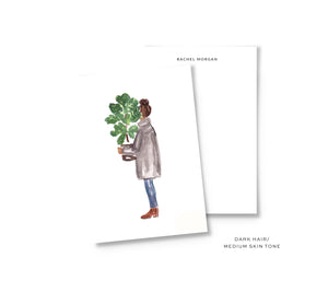Fiddle Leaf Fig Personalized Stationery