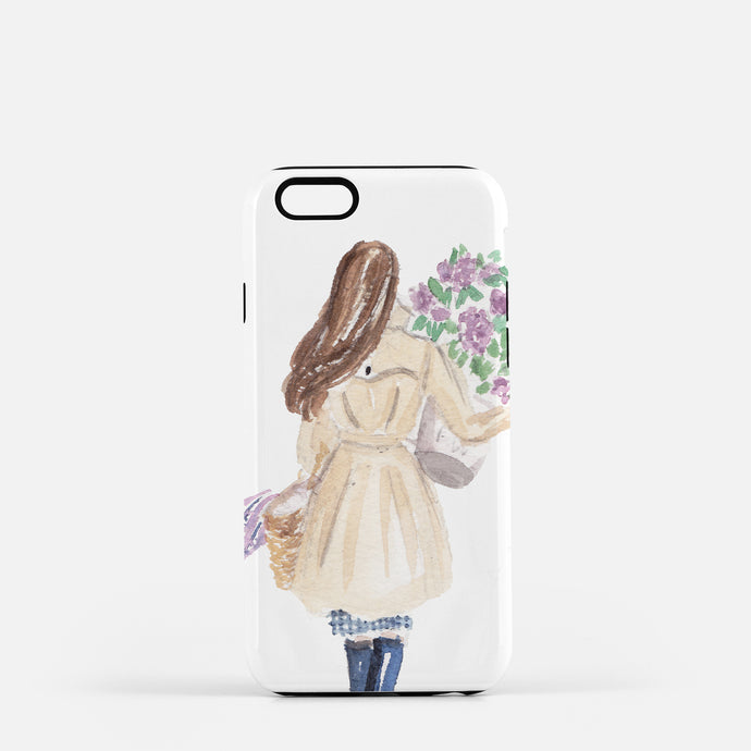 Lilac Girl iPhone Case
