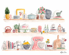 Load image into Gallery viewer, kitchen shelf art print