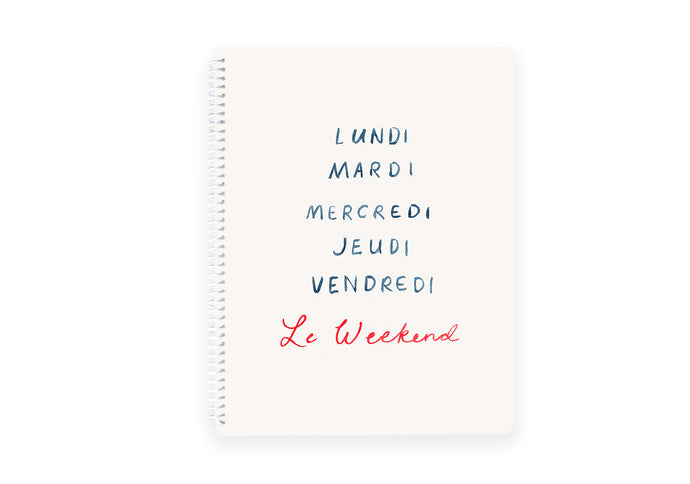 Le Weekend Spiral Notebook
