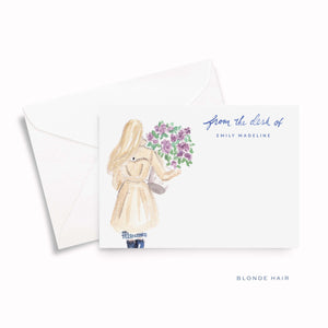 Lilac Personalized Stationery