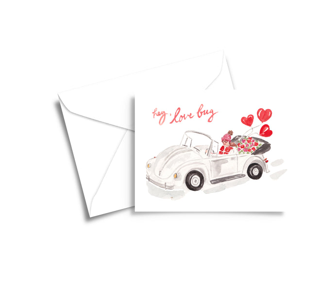 Love Bug Valentine Greeting Card