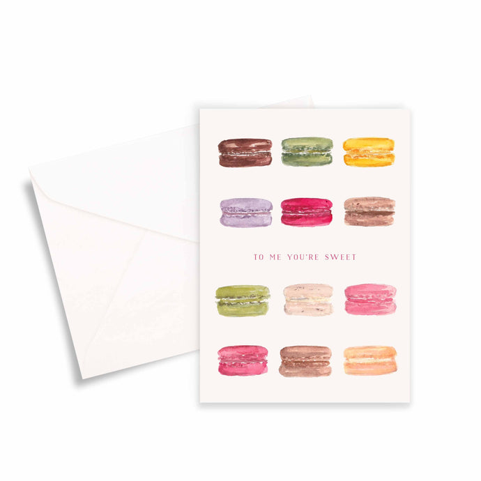 To Me You're Sweet Macarons Greeting Card