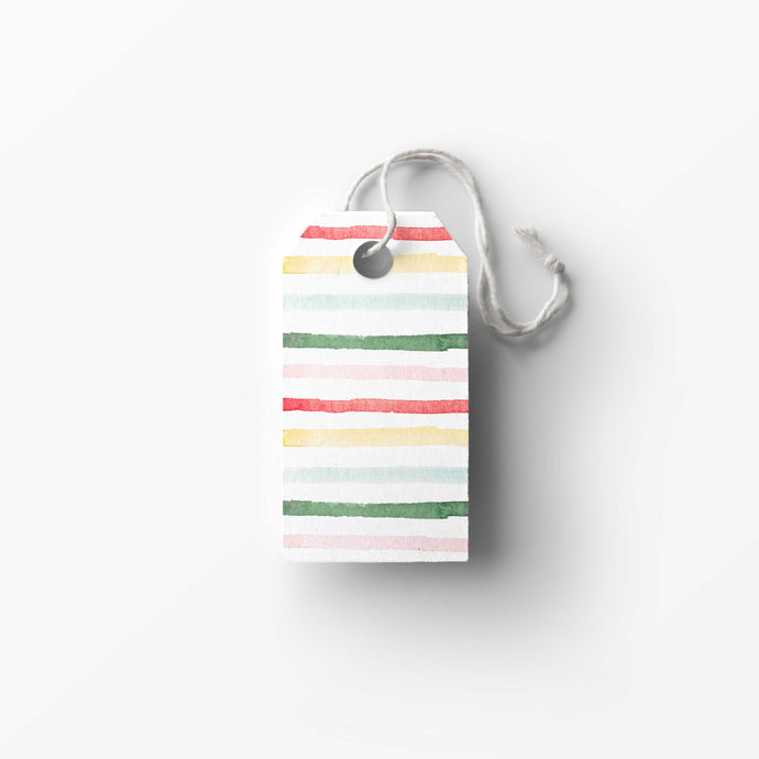 Multi Stripe Gift Tags