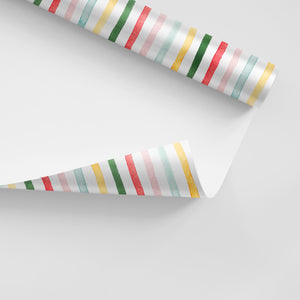 Multi Stripe Gift Wrap