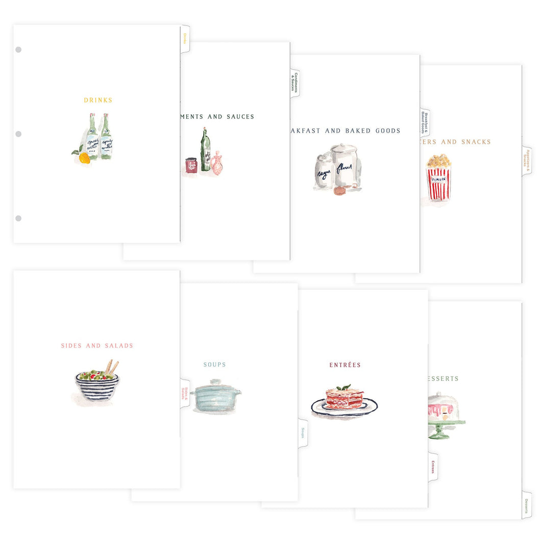 Tab Dividers for Recipe Binder
