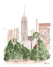 Load image into Gallery viewer, Christmas in New York Art Print