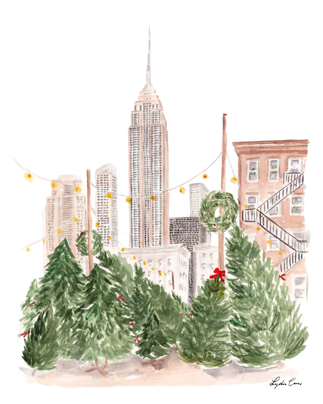 Christmas in New York Art Print
