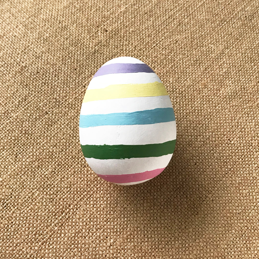 Pastel Stripes Easter Egg