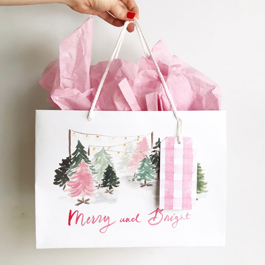 Merry and Bright Gift Bag - Large
