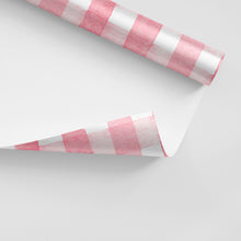 Load image into Gallery viewer, pink watercolor gingham gift wrap pattern the illustrated life